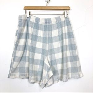 Vintage high waisted checkered mom shorts loose